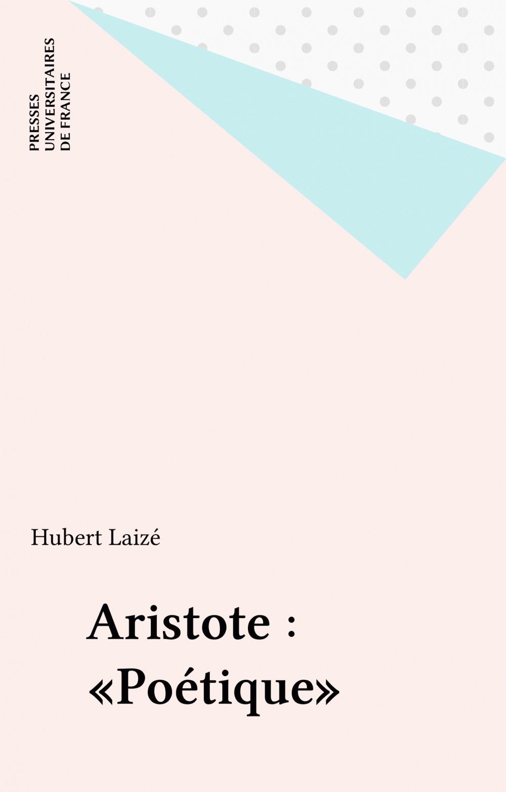 ETUDES LITTERAIRES T.64 ; poétique, d'Aristote