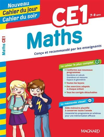 Cahiers du jour/ soir ; mathématiques ; CE1