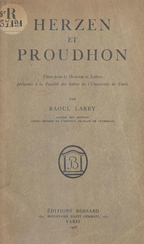 Herzen et Proudhon