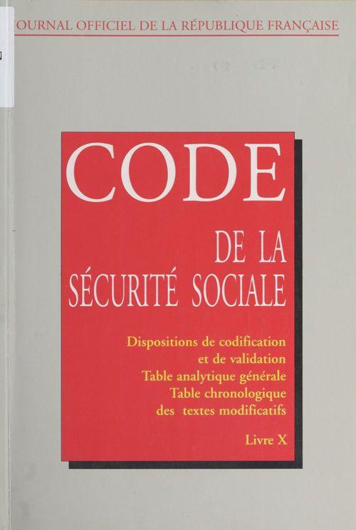 Code de la sécurité sociale (10)
