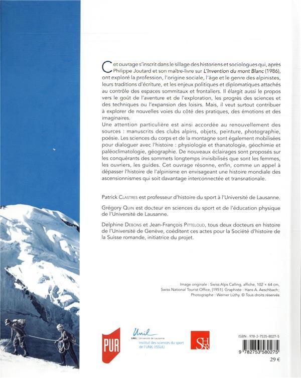 gravir les Alpes du XIXe siècle à nos jours ; pratiques, émotions, imaginaires