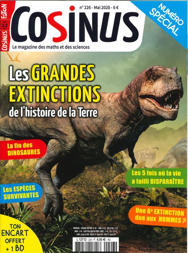 Cosinus n  226 les grandes extinctions - mai 2020