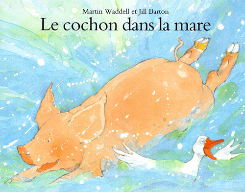 Un cochon dans la mare