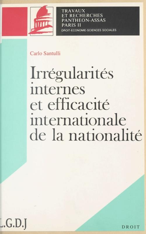 Irregularite inter. efficacite