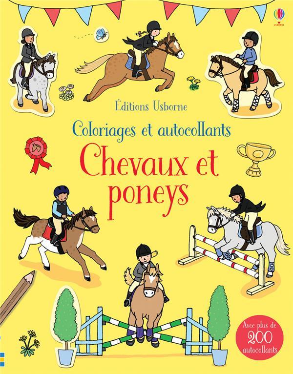 COLORIAGES ET AUTOCOLLANTS ; chevaux et poneys