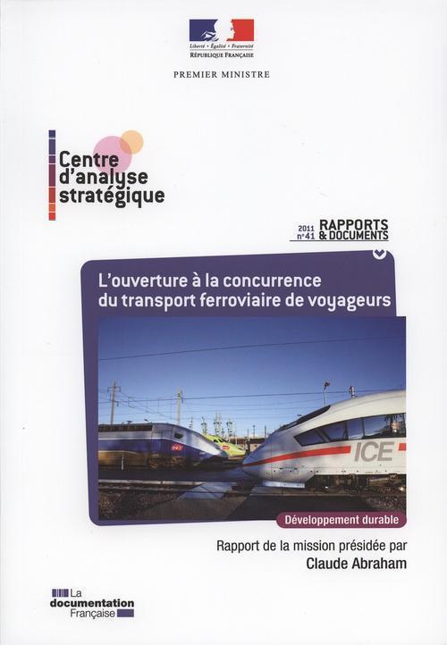 L'ouverture a la concurrence du transport ferroviaire de voyageurs