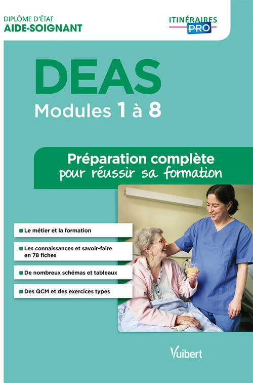 DEAS - Modules 1 à 8 - Tout-en-un - Itinéraires pro