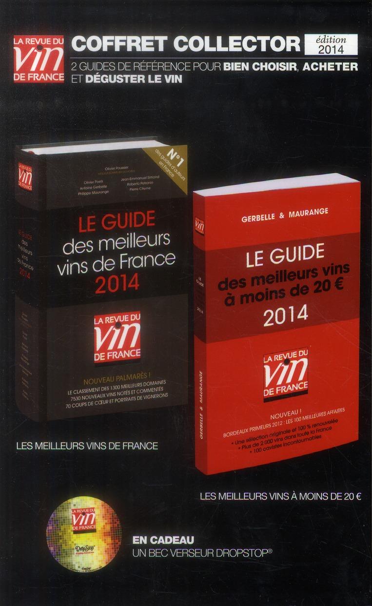 Le guide des meilleurs vins de France 2014 ; le guide des meilleurs vins à moins de 20€ 2014 ; guide vert et guide rouge 2014 ; coffret collector