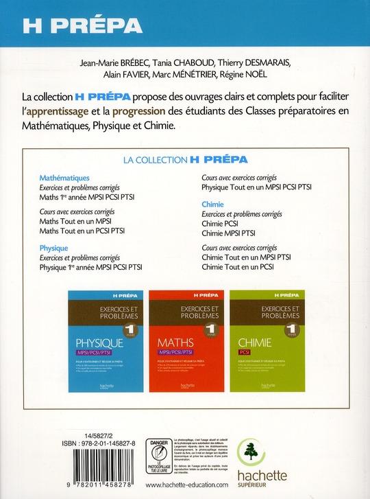 Physique ; MPSI/PCSI/PTSI ; exercices et problèmes
