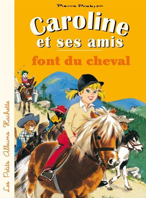 Caroline et ses amis font du cheval