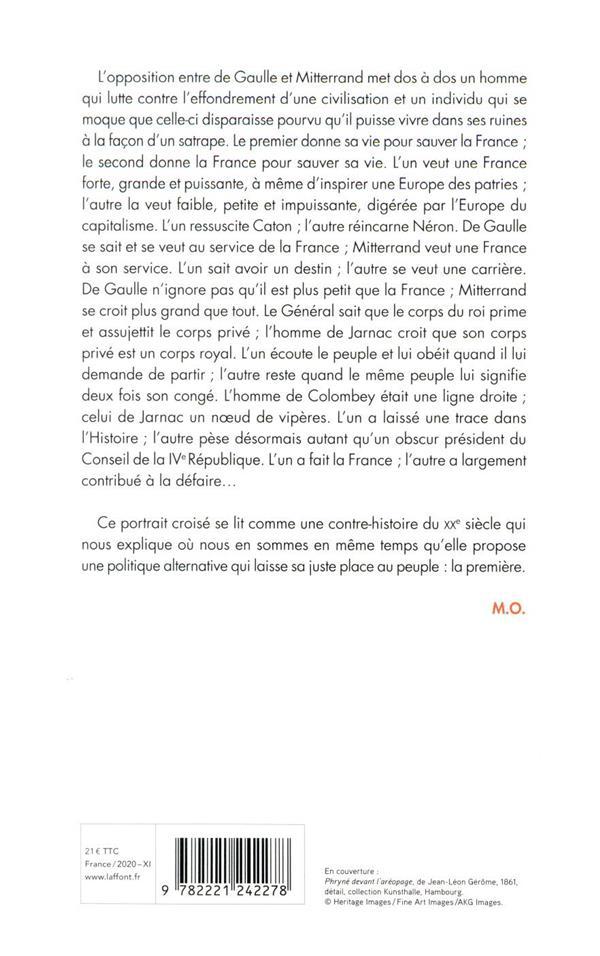 Vies parallèles ; De Gaulle Mitterrand