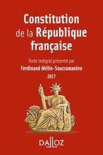 Vente Livre Numérique : Constitution de la République française 2017  - Ferdinand Mélin-Soucramanien