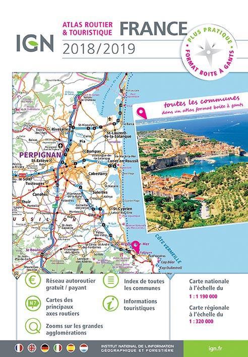 95052 ; France, atlas routier et touristique (édition 2018/2019)