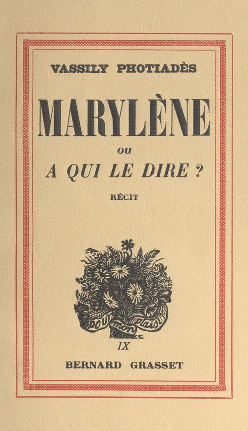 Marylène  - Vassily Phothiades
