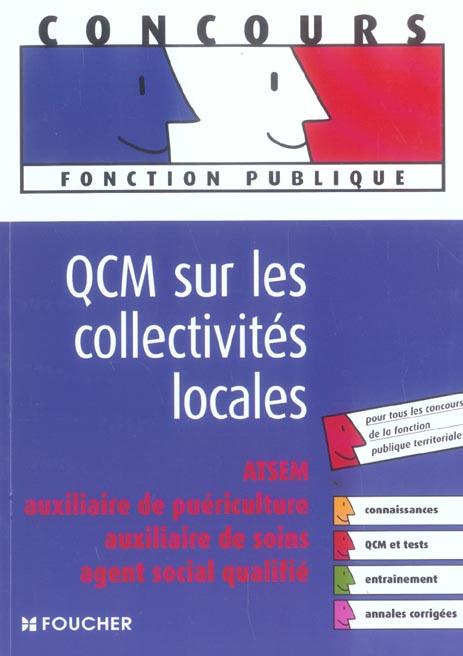 Qcm sur les collectivites locales ; annales corrigees