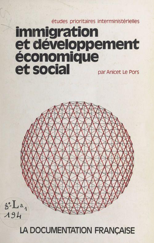 Immigration et développement économique et social