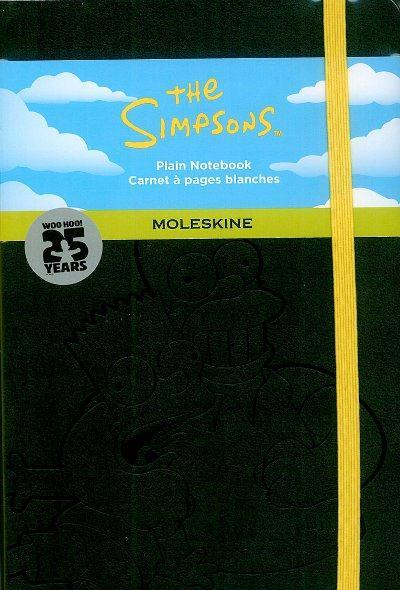 Les Simpson ; carnet grand format noir pages blanches