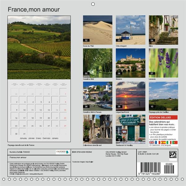France mon amour (calendrier mural 2017 Square)