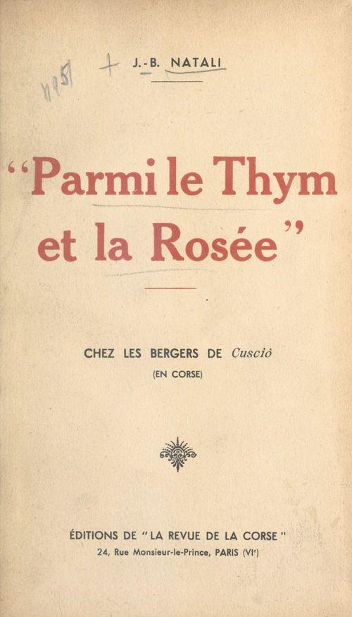 Parmi le thym et la rosée  - J.-B. Natali