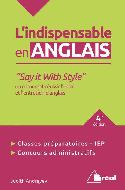 L'indispensable en anglais ;