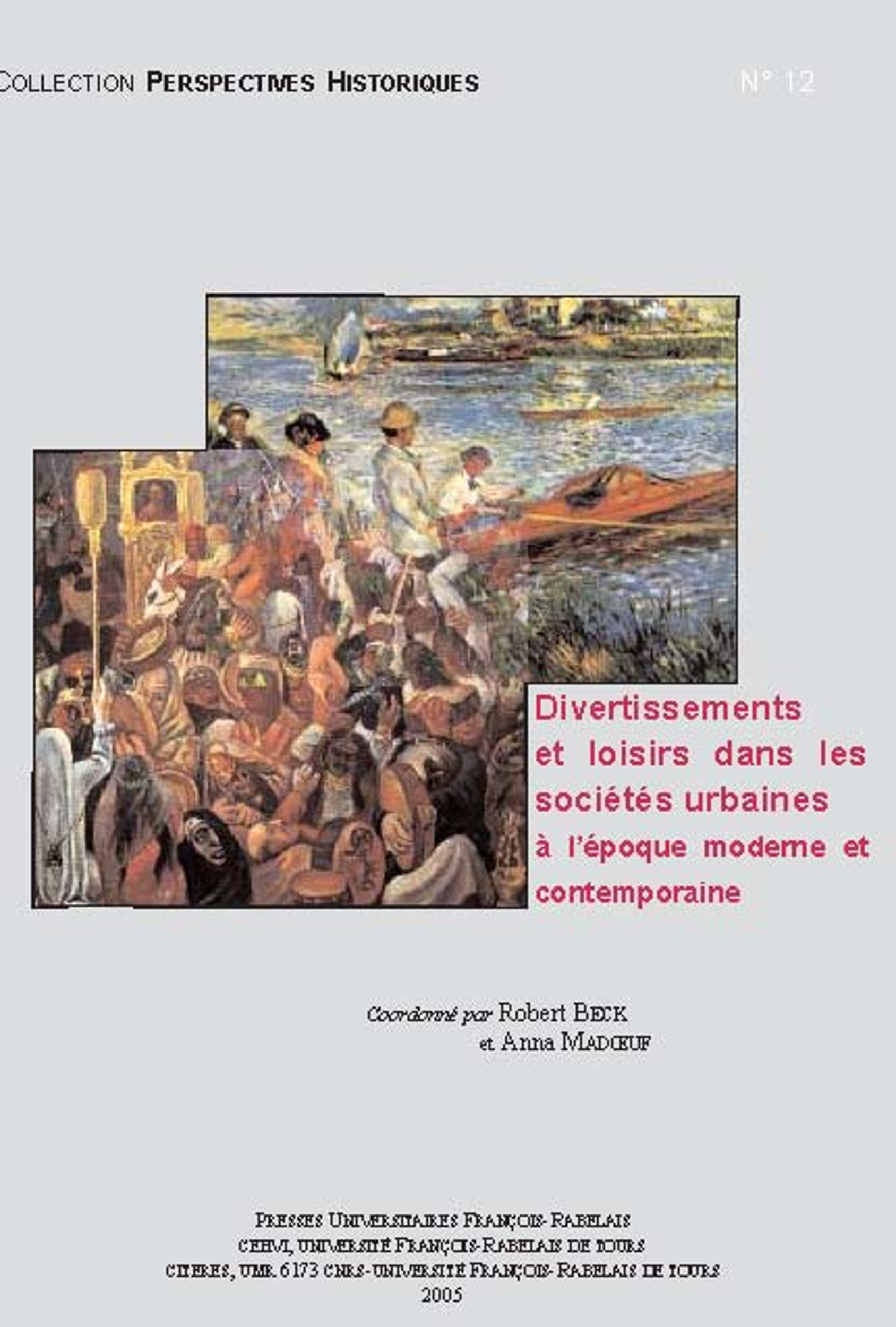 Divertissements et loisirs dans les sociétés urbaines à l'époque moderne et contemporaine
