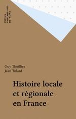 Histoire locale et régionale en France