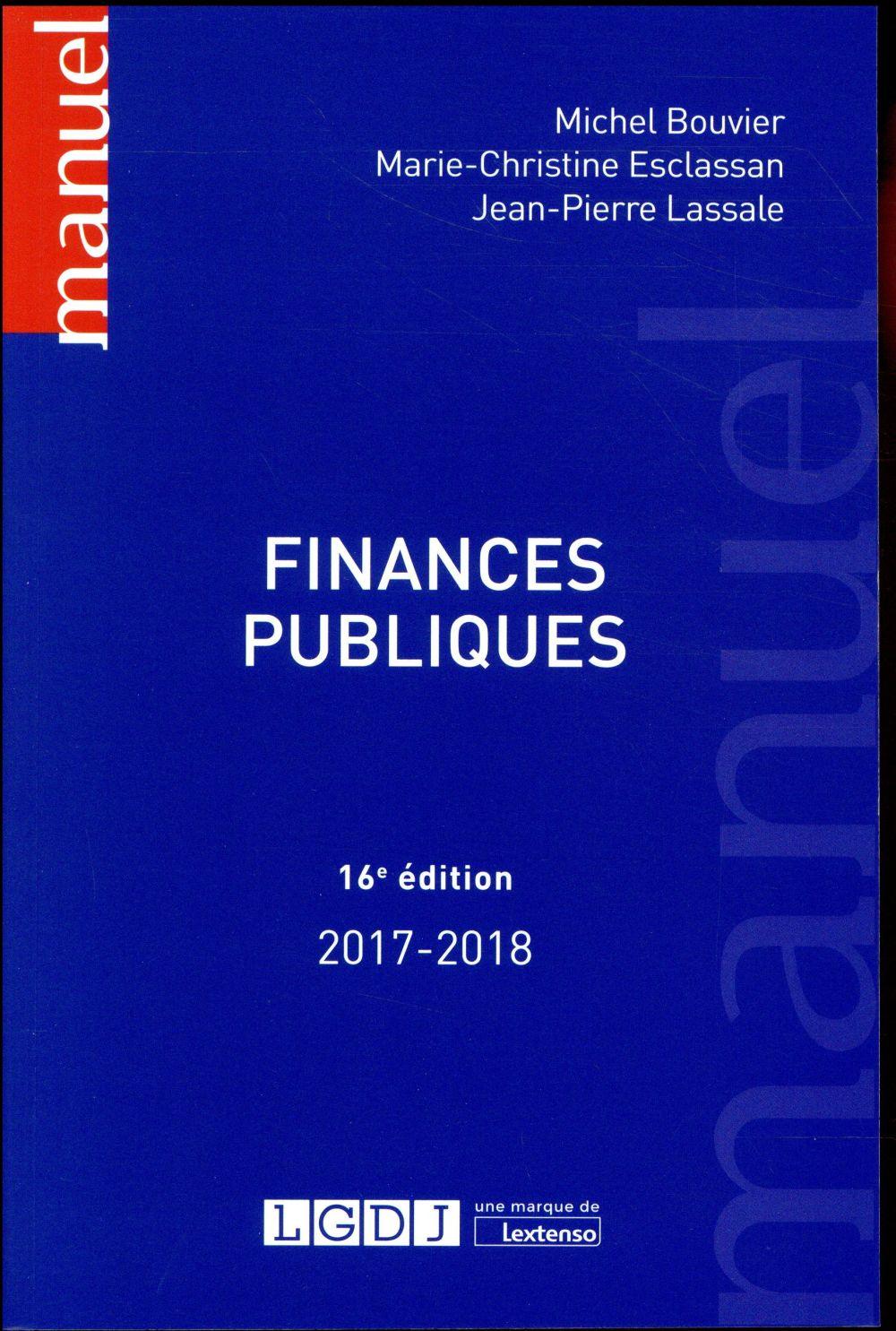 Finances publiques (édition 2017/2018)