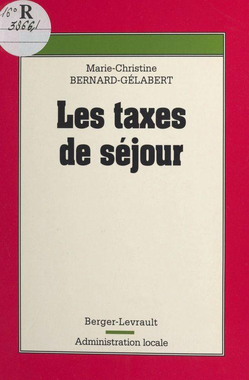 Taxes de sejour