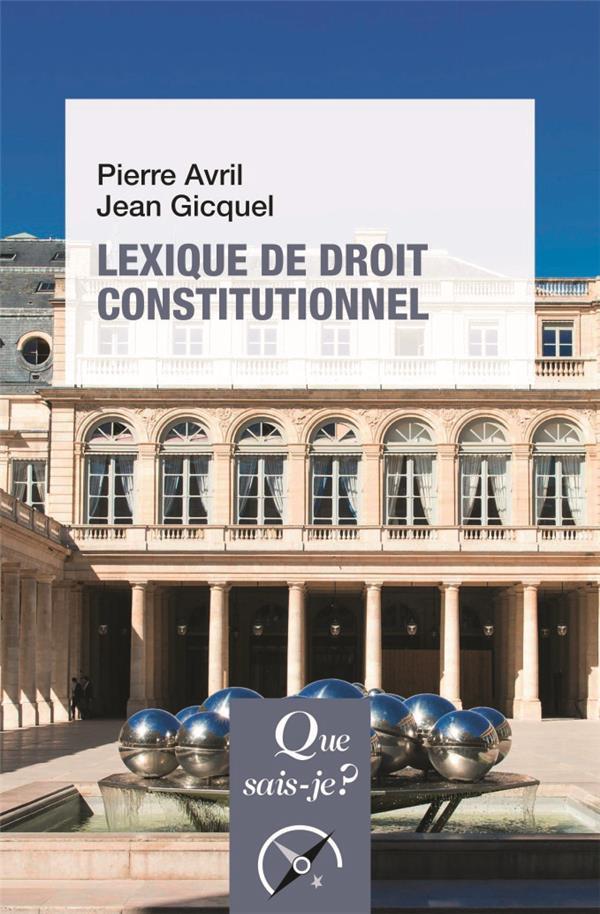 Lexique de droit constitutionnel (6e édition)