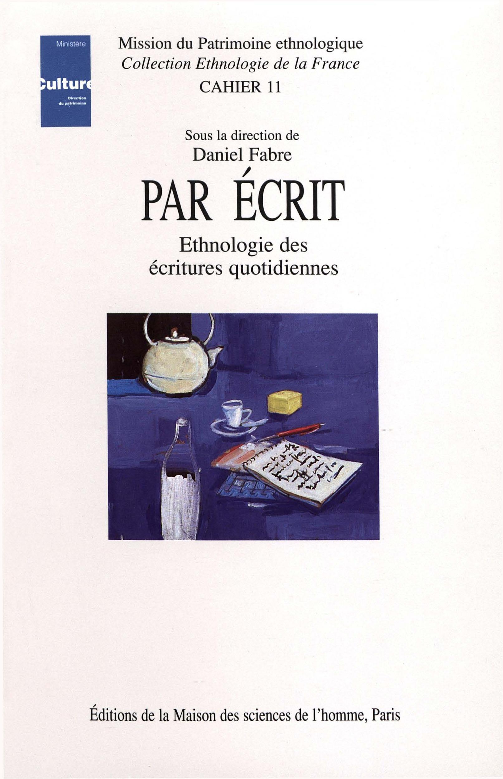 part écrit ; ethnologie des écritures quotidiennes