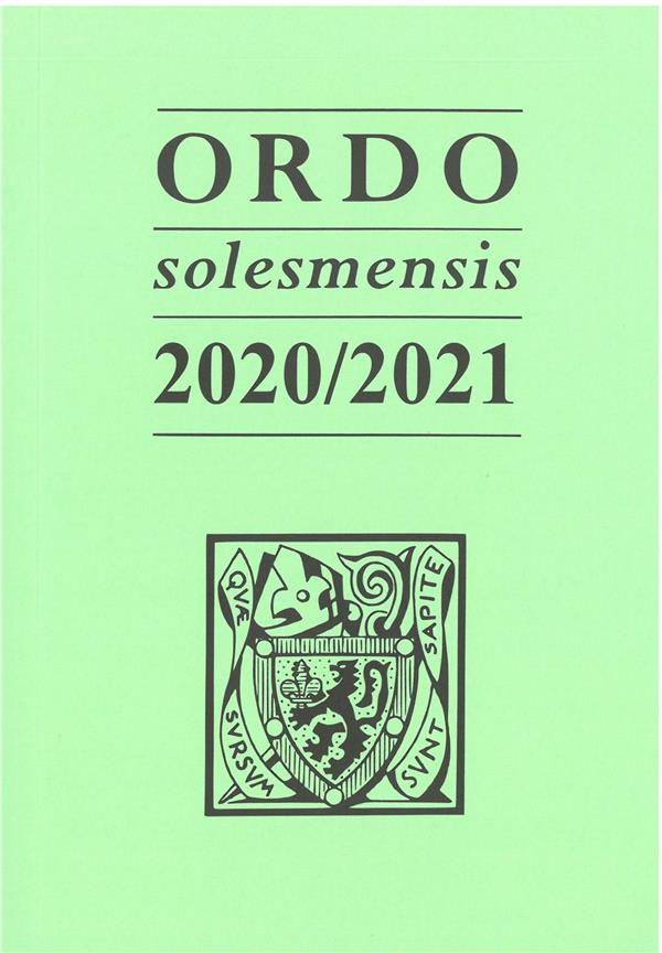 ORDO SOLESMENSIS (EDITION 20202021)
