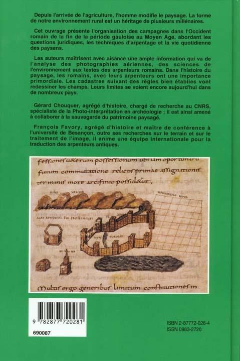 Paysages de l'antiquite (les) - terres et cadastres de l'occident romain