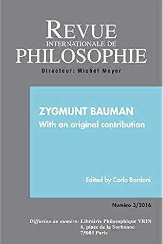Revue internationale de philosophie n.277 ; zygmunt bauman ; with an original contribution