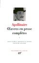 OEUVRES EN PROSE COMPLETES (TOME 1)