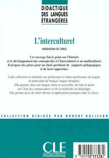 Dle l'interculturel col.didactique des langues etrangeres