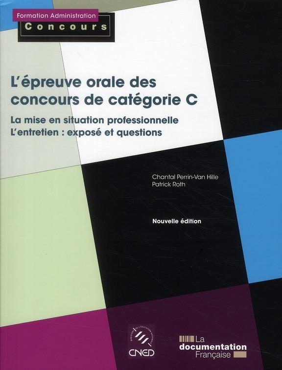 l'épreuve orale des concours de catégorie C