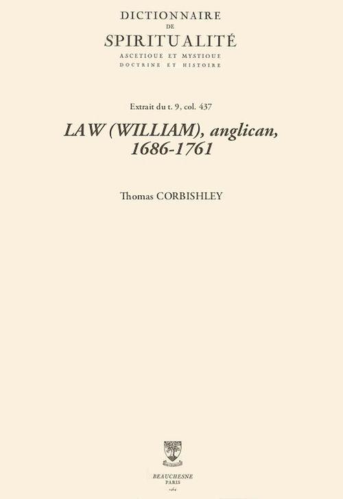 LAW (WILLIAM), anglican, 1686-1761