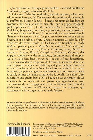 Apollinaire ; une biographie de guerre