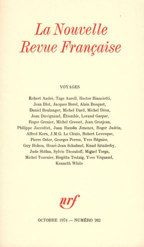 Voyages N° 262  - Collectifs  - Collectifs Gallimard