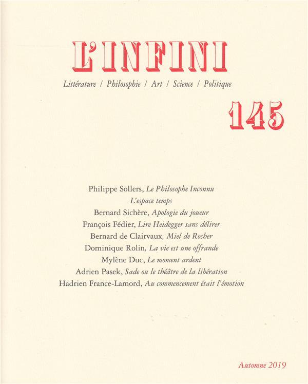 Revue l'infini n.145 ; l'infini