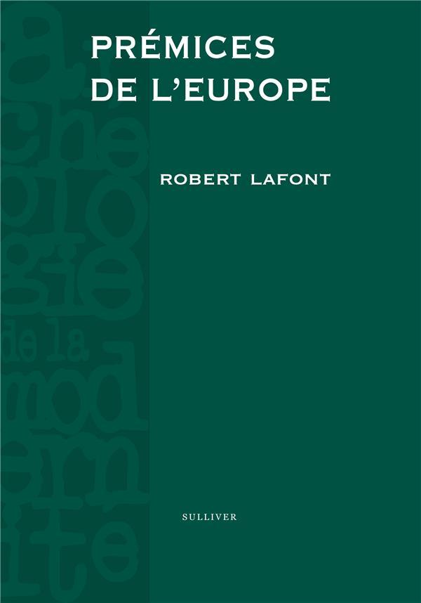 Prémices de l'Europe