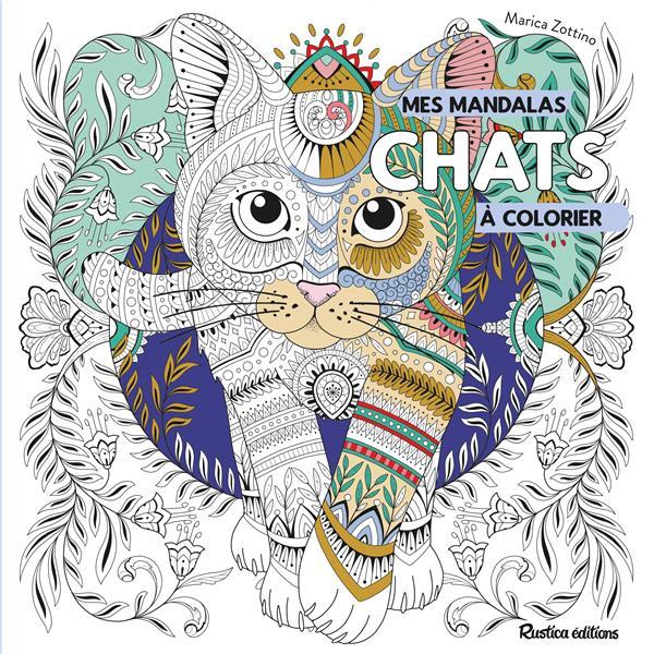 Mandalas à colorier ; chats