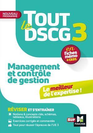tout le DSCG 3 ; management et contrôle de gestion
