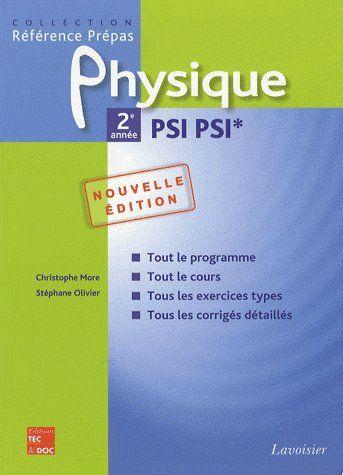 physique ; 2ème année ; PSI PSI* (2ème édition)