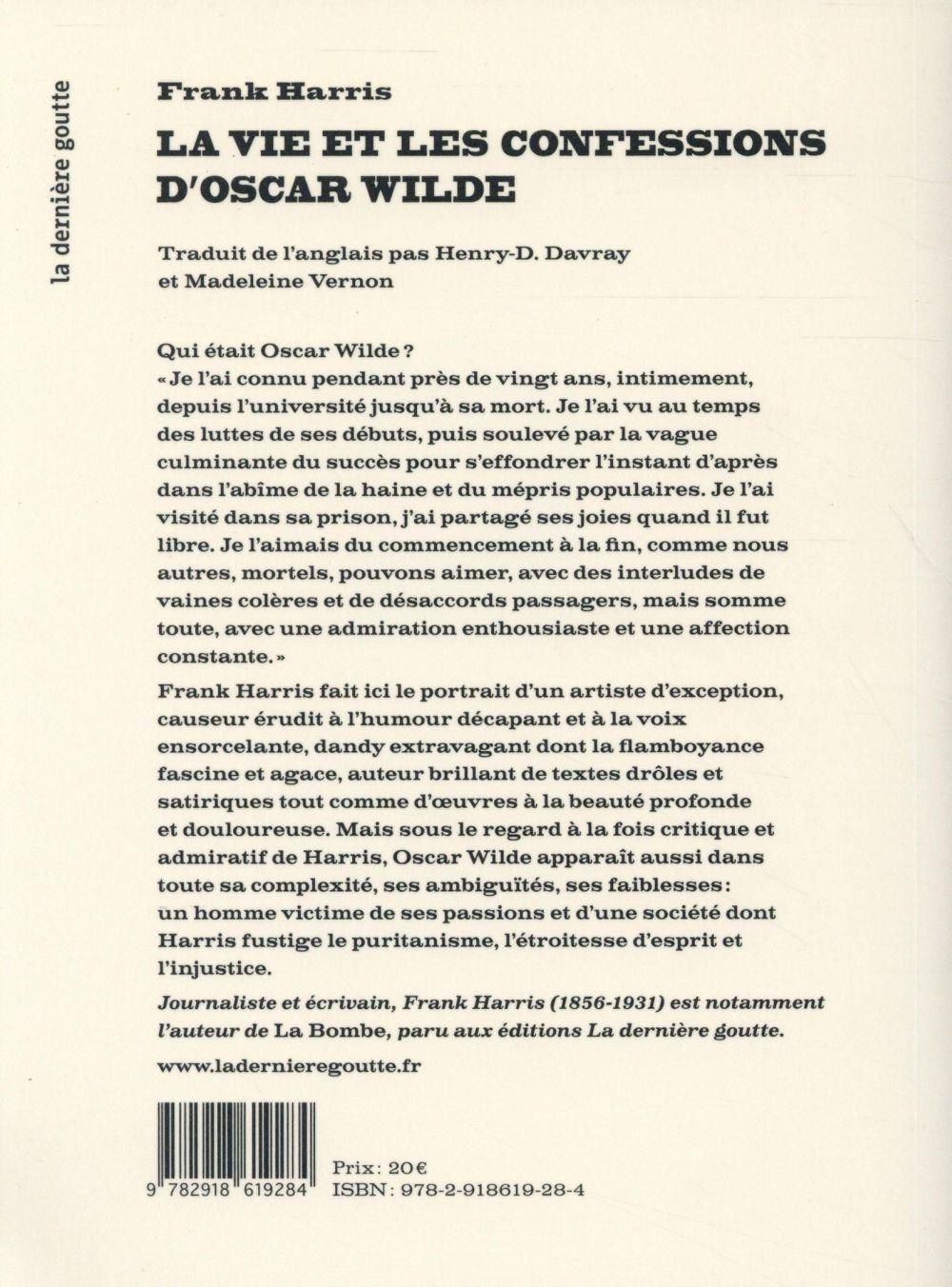 La vie et les confessions d'Oscar Wilde