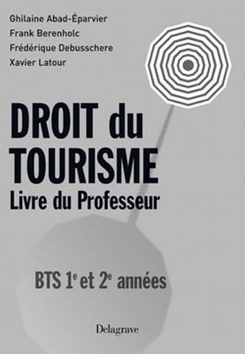 Bts Droit Du Tourisme 1e Et 2e Annee Pro