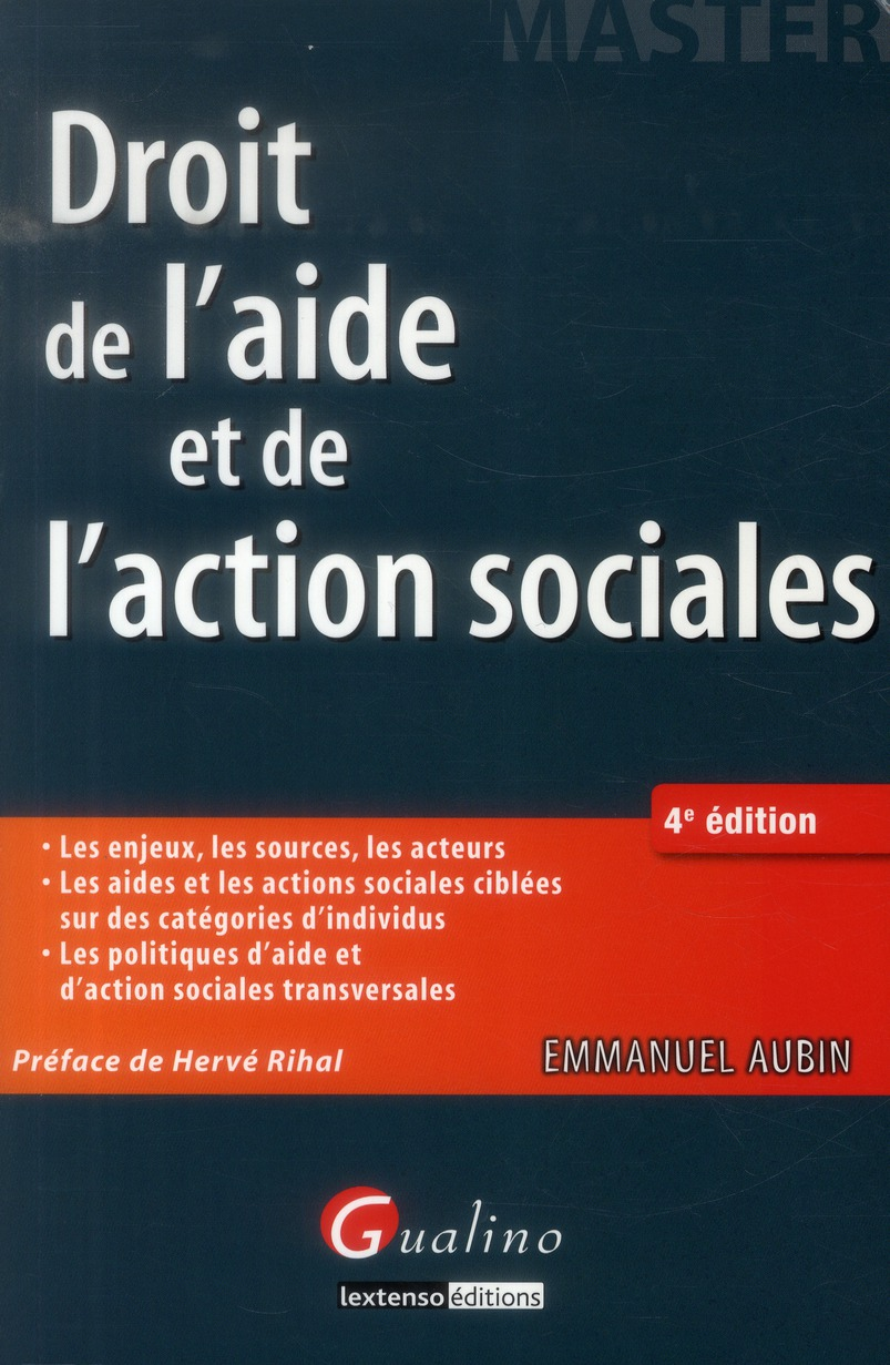 Droit de l'aide et de l'action sociales (4e édition)