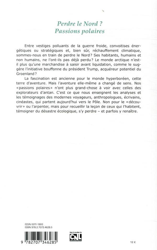Revue critique n.875 ; avril 2020 ; perdre le nord ? passions polaires