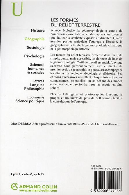 Les formes du relief terrestre (8e édition)