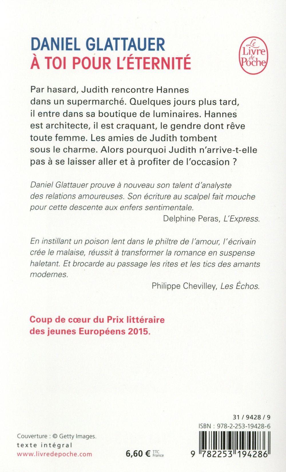 à Toi Pour L éternité Daniel Glattauer Librairie Generale Francaise Poche Le Hall Du Livre Nancy